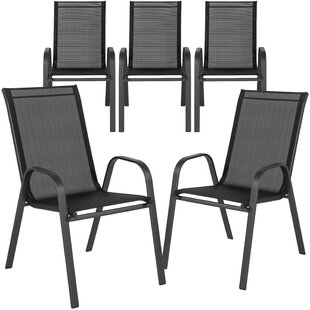 Scurry Stacking Patio Dining Chair (Set of 5)