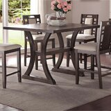 Pepperell Wooden Pub Table by Millwood Pines