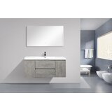 Monteiro 47 Wall-Mounted Single Bathroom Vanity Set by Orren Ellis