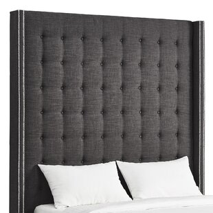 Rosdorf Park Luxullian Button Tufted Upholstered Wingback Headboard