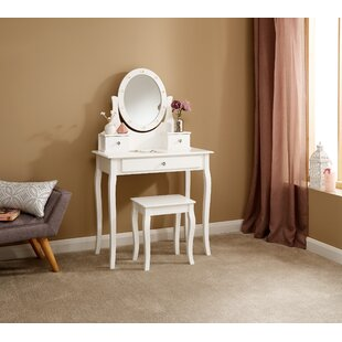 Hines Dressing Table With Mirror By Rosdorf Park