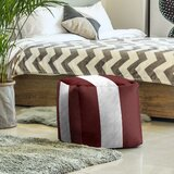 Texas College Station Stripes Cube Ottoman by East Urban Home