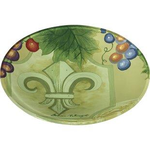 Fleur De Lis Vines Hand Painted 6.25\  Butter Plate  sc 1 st  Wayfair & Fleur De Lis Bowl | Wayfair