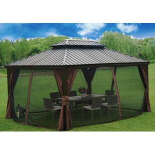 Alexander 16 Ft. W x 12 Ft. D Steel Patio Gazebo by Kozyard