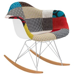 Padded Patchwork Rocking Chair by Edgemod
