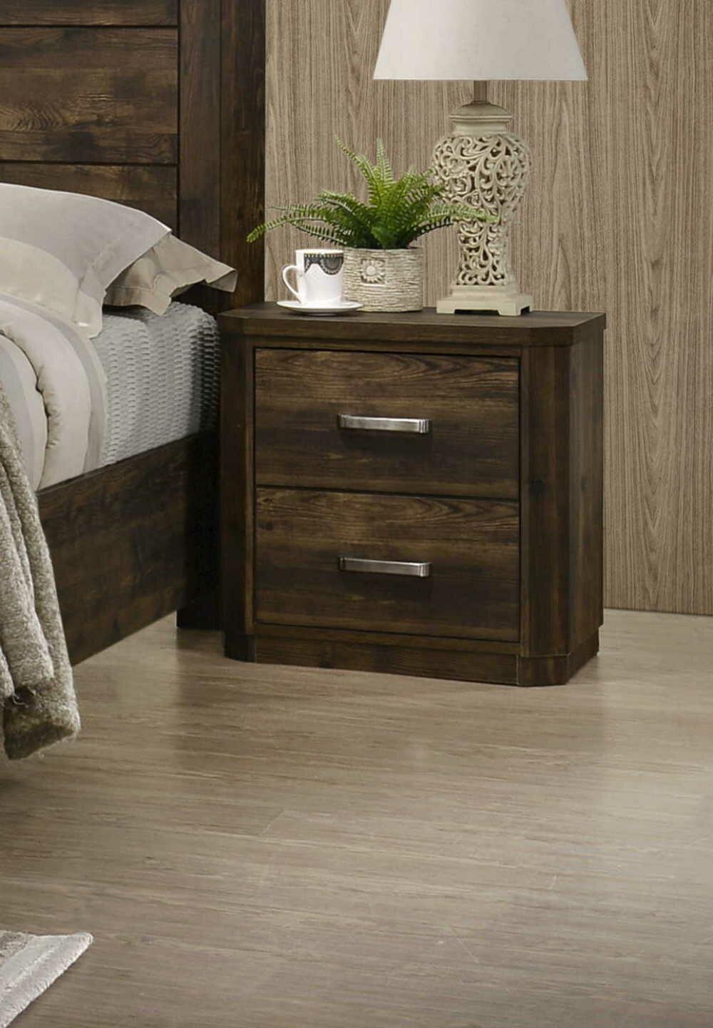 Cozzy Design Anderson 2 Drawer Nightstand In Rustic Walnut Wayfair