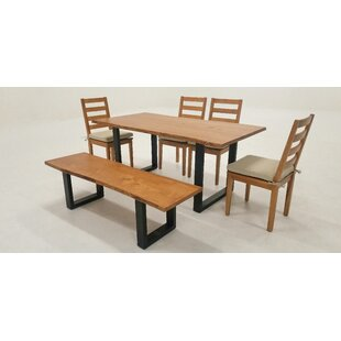 Zimmer Live Edge 6 Piece Solid Wood Dining Set Union Rustic