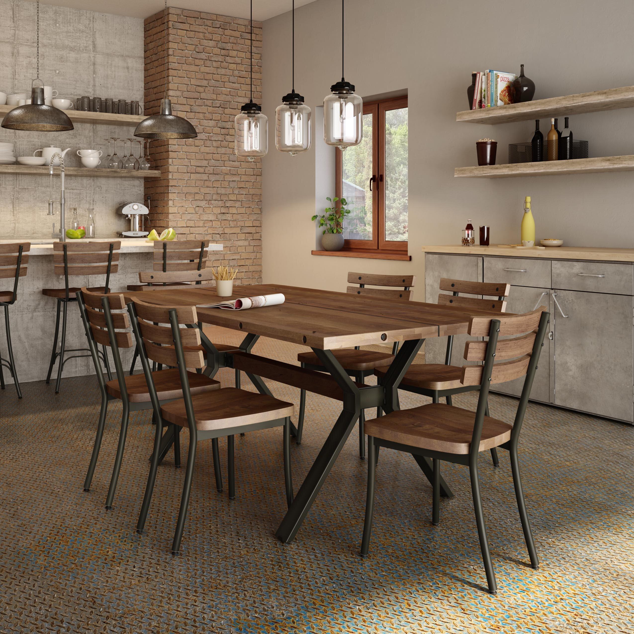 Merveilleux 17 Stories Darcelle 5 Piece Industrial Dining Set | Wayfair