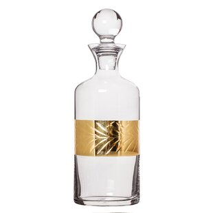 Aahil Leaf Etched 1.5L Decanter by The Seasonal Aisle