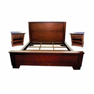 Andesine Queen Platform Solid Wood 3 Piece Bedroom Set by Charlton Home