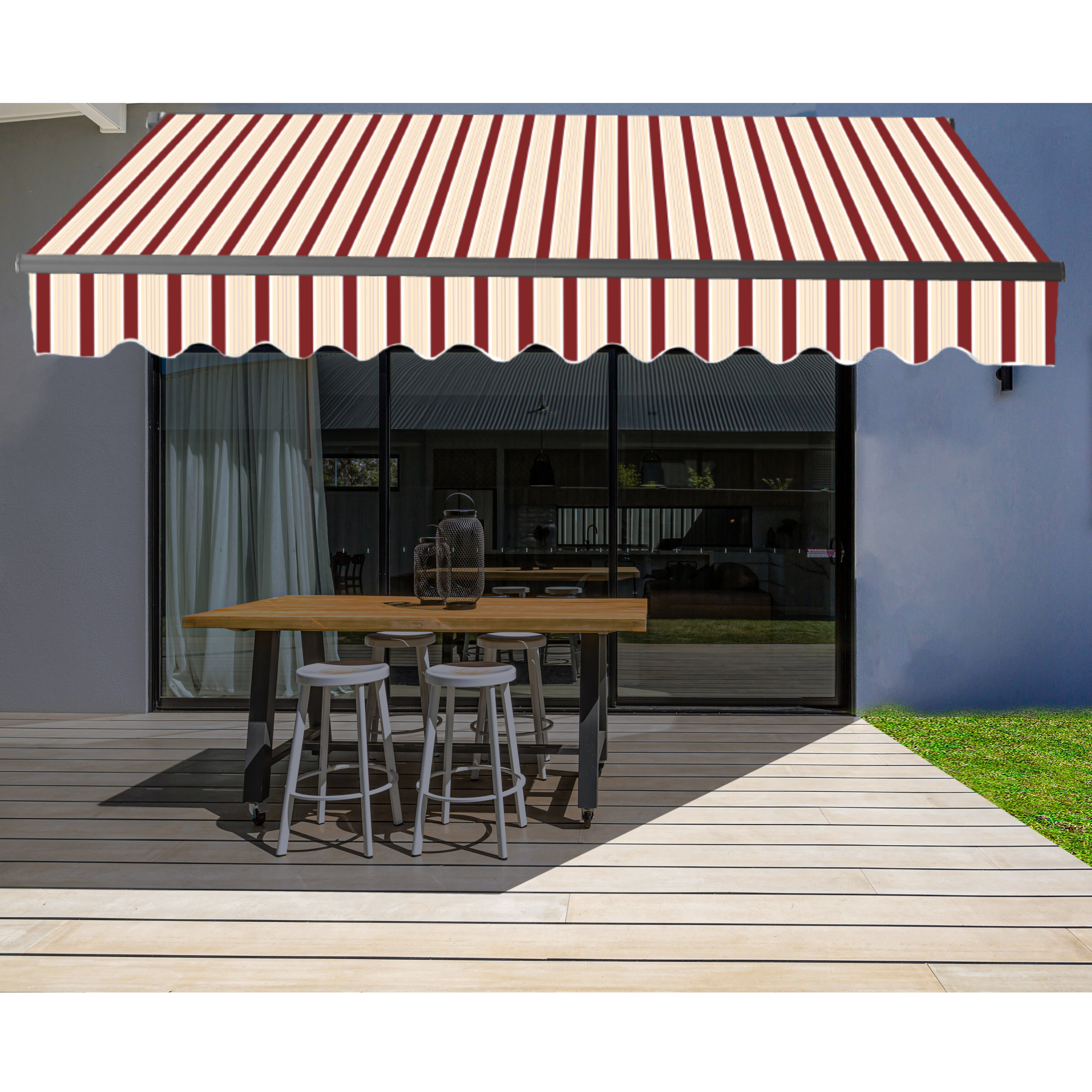 Aleko Fabric Retractable Standard Patio Awning