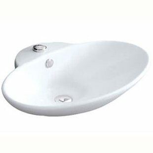 Read Reviews Olivia Vitreous China Oval Vessel Bathroom Sink with Overflow ByElements of Design