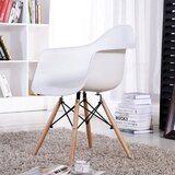 Nesbitt Solid Wood Arm Chair in White (Set of 2) by Corrigan Studio®