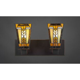 Bargain Eurig 2-Light Vanity Light By Loon Peak