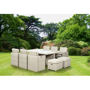 Swindon 10 Seater Dining Set With Cushions By Sol 72 Outdoor