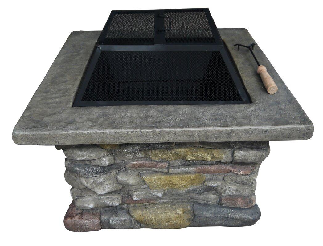 loon peak davey wood burning fire pit table u0026 reviews wayfair