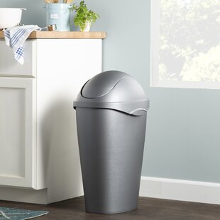 Wayfair Basics 12 Gallon Swing Top Trash Can