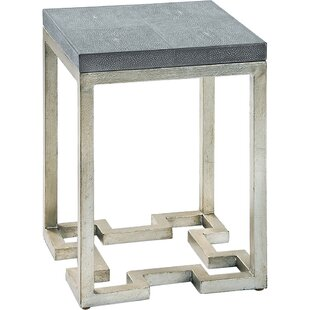 Leaf Textured Iron End Table