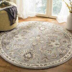 Amundson Hand Tufted Light Gray Area Rug