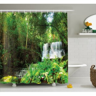 Scenery Spring Botanic Forest Shower Curtain + Hooks