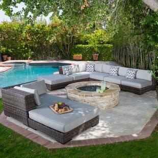 Orren Ellis Revere 8 Piece Sunbrella Sectional Set with Cushions