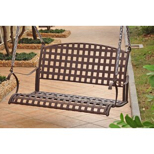 Schilling Iron Outdoor Porch Swing by Alcott Hill Great price