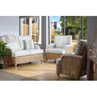 Aliyah 3 Piece Conservatory Sofa Set By Beachcrest Home