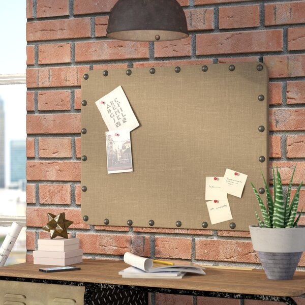Trent Austin Design Burlap Wall Mounted Bulletin Board