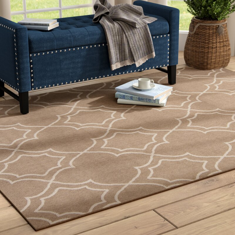 Alcott Hill Amato Beige Indoor/Outdoor Area Rug, Size: Runner 23 x 119