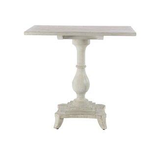 Kozlowski Traditional Pine Wood Rectangular End Table by One Allium Way