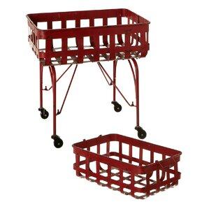 Elsworth Rectangle 2-Piece Bar Cart Set by Gracie Oaks