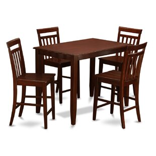 Buckland 5 Piece Counter Height Dining Set by East West Furniture Herry Up
