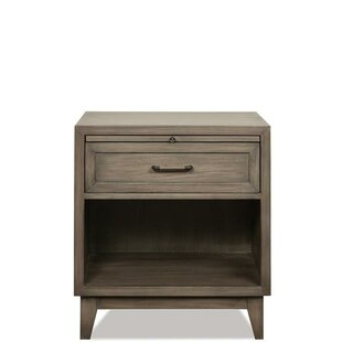 Malt 1 Drawer Nightstand by Three Posts Comparison