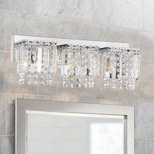 Mclemore Crystal Strand 3 Light Vanity Light