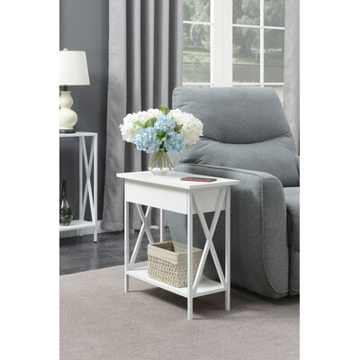 Abbottsmoor End Table Color: White by Andover Mills