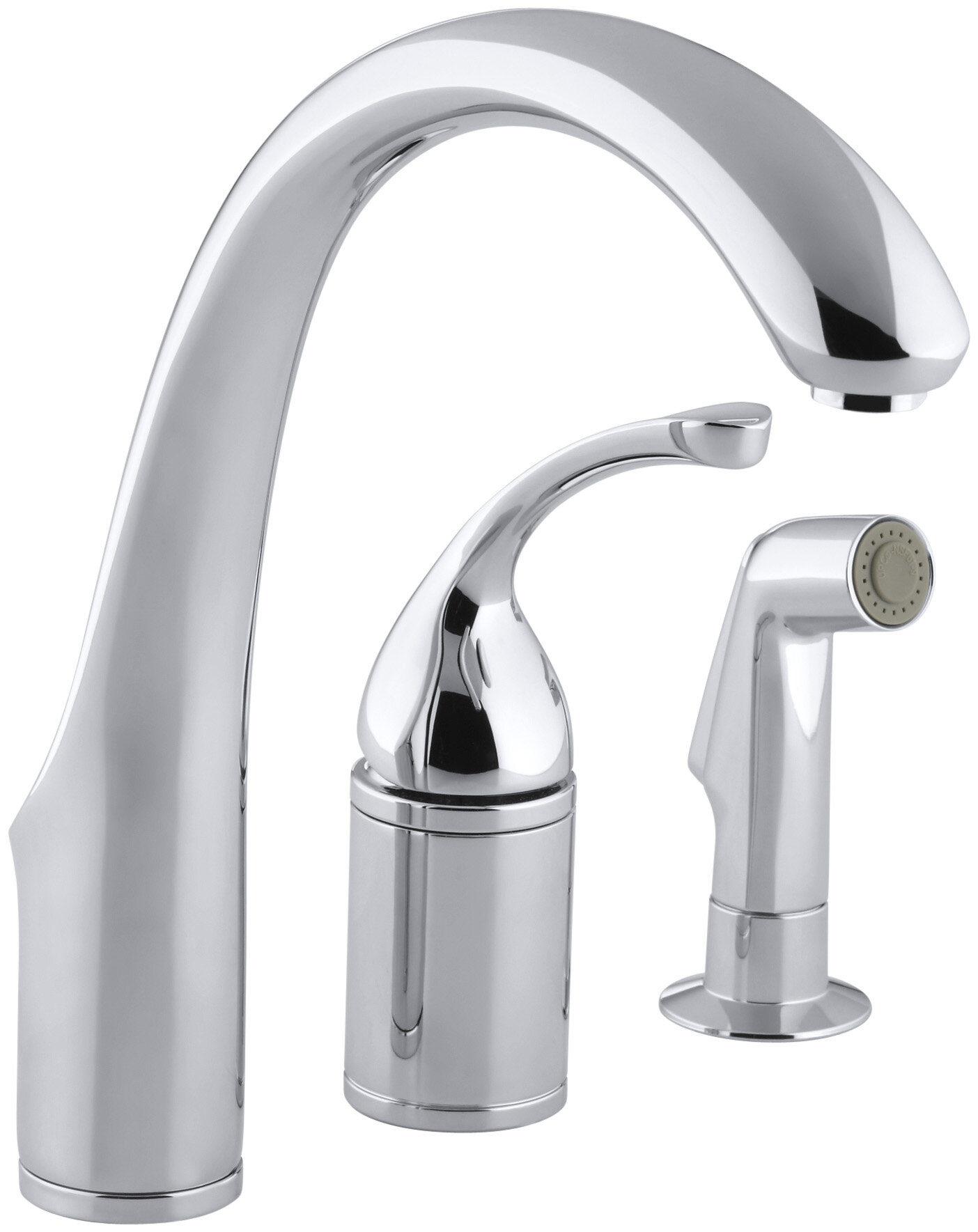 K 10430 Bn Bv Cp Kohler Forté 3 Hole Remote Valve Kitchen Sink Faucet With 9 Spout Matching Finish Sidespray Reviews Wayfair