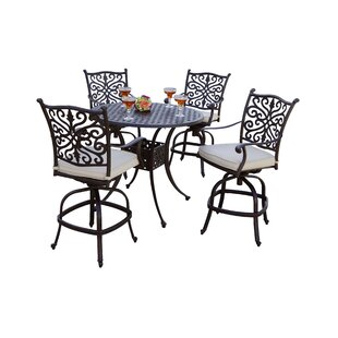 Archway 5 Piece Pub Table Set with Cushions Astoria Grand