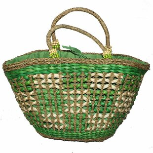 Corn Leaf and Straw Picnic Tote Bag