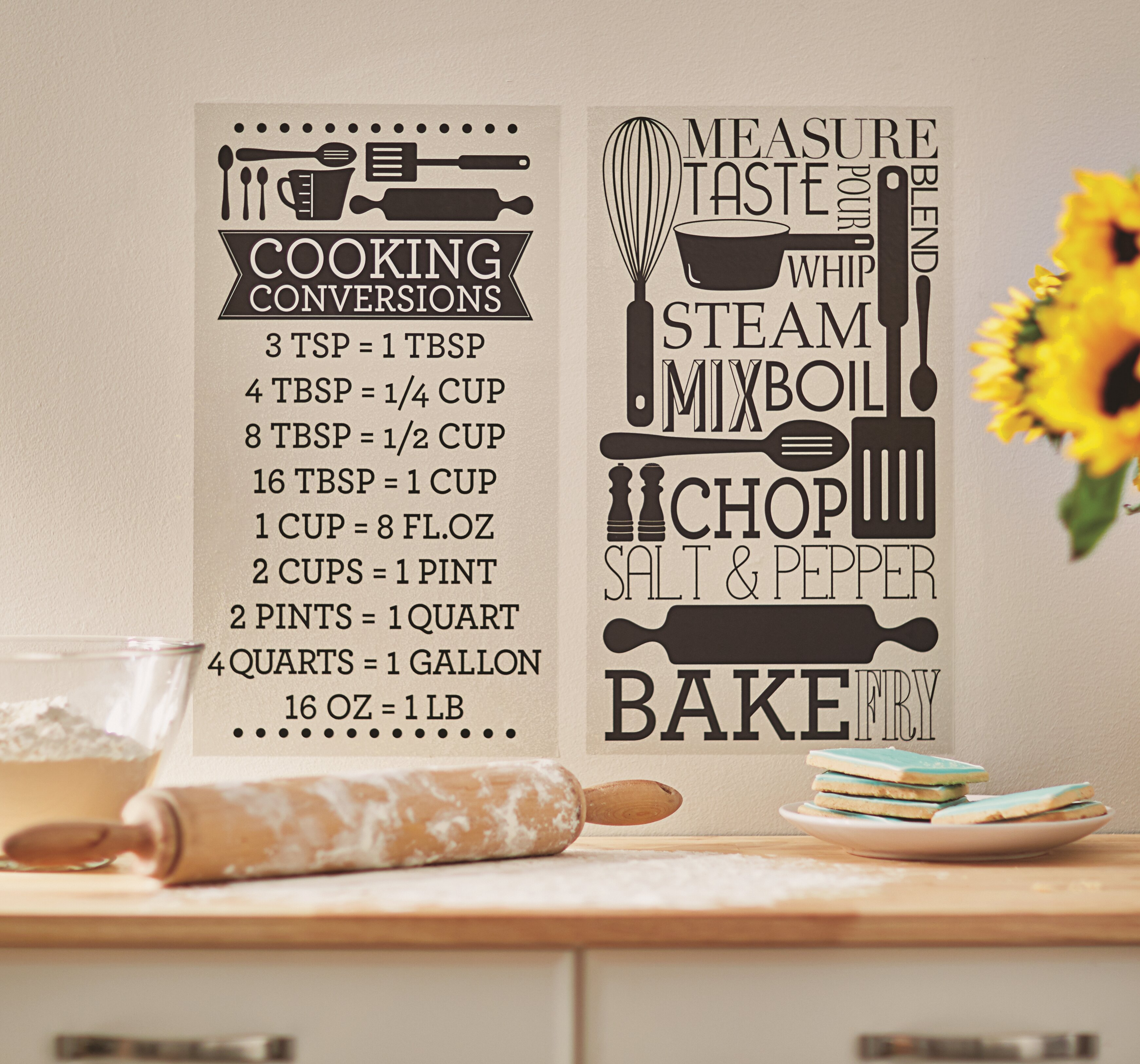 Cooking Conversions Wall Decal