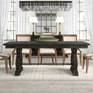 Ellenton Solid Wood Dining Table Greyleigh
