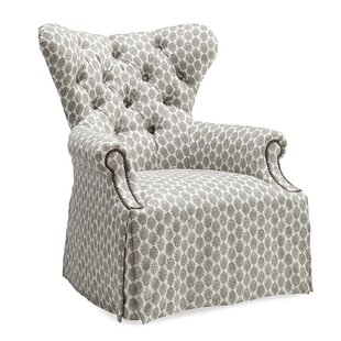 House of Hampton Posen Tufted Back Skirted Wing Arm Chair
