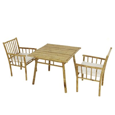 Kridia 3 Piece Bistro Set With Cushions by Bay Isle Home #1
