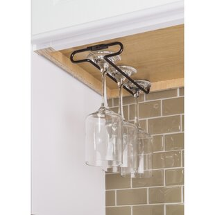 Under Cabinet Hanging Wine Glass Rack by Hardware Resources