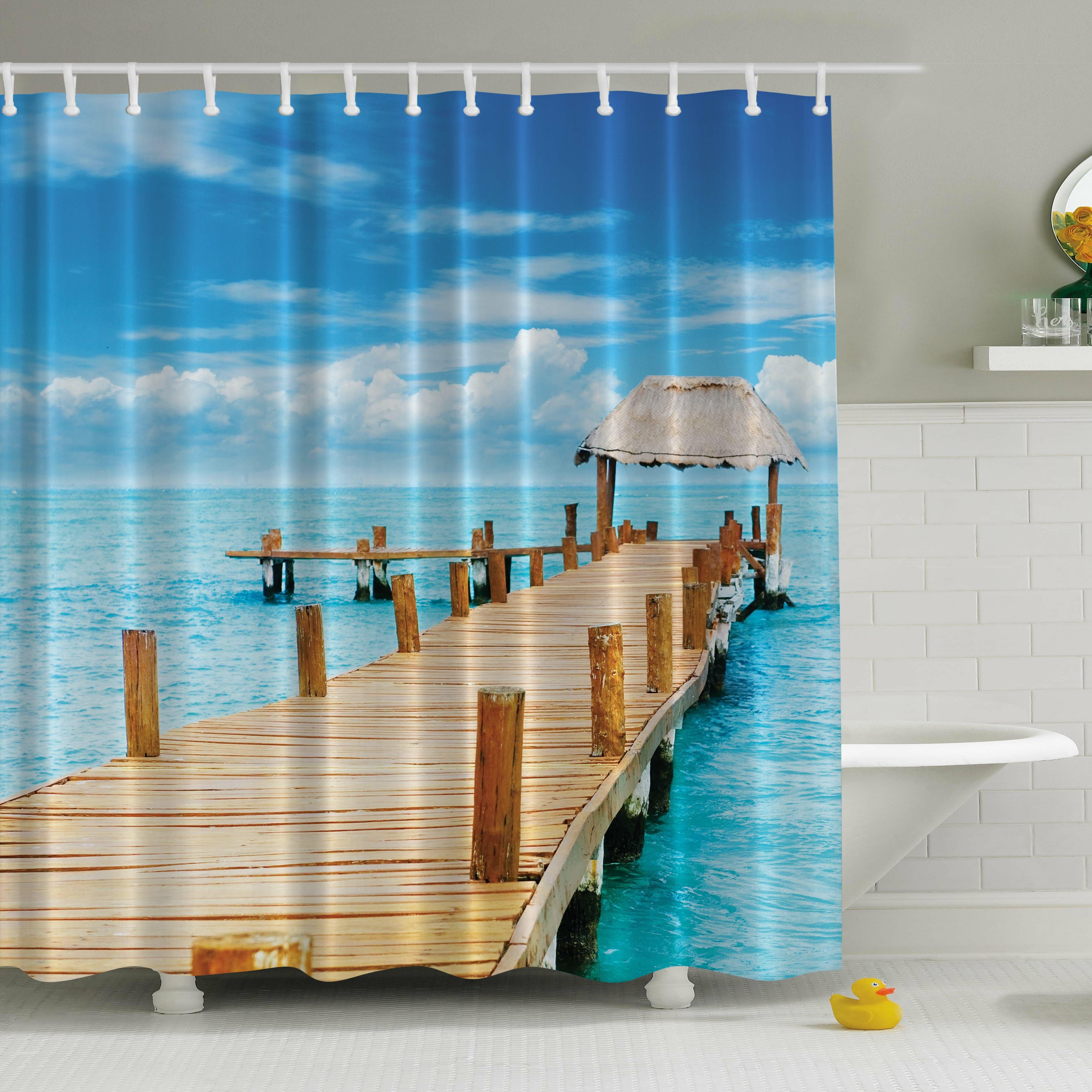 East Urban Home Elena Paradise Pier Print Single Shower Curtain Reviews Wayfair