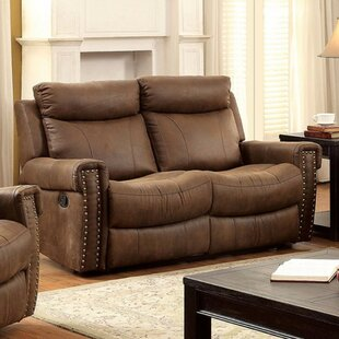 Red Barrel Studio Kesterman Leather Reclining Loveseat