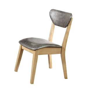 Macarthur Leatherette Upholstered Dining Chair (Set Of 2) by Wrought Studio Comparison