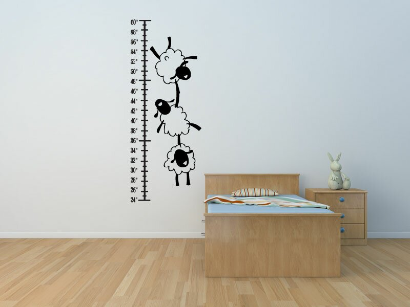 harriet bee eisenman sheep vinyl wall decal growth chart | wayfair.ca