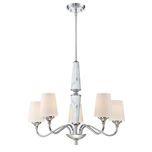 Designers Fountain Lusso 5-Light Shaded Chandelier