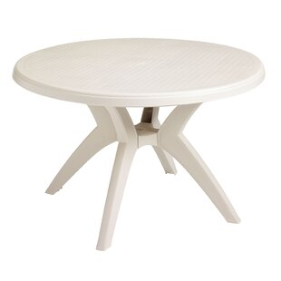 Grosfillex Commercial Resin Furniture Ibiza Plastic Dining Table