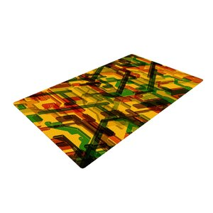 Roberlan Three Dee Yellow/Red Area Rug